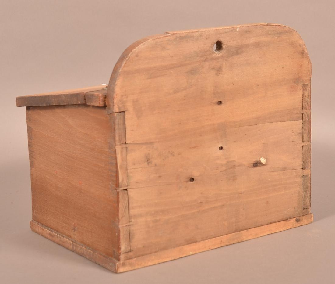 Pennsylvania 19th Century Softwood Hanging Salt Box. - 4