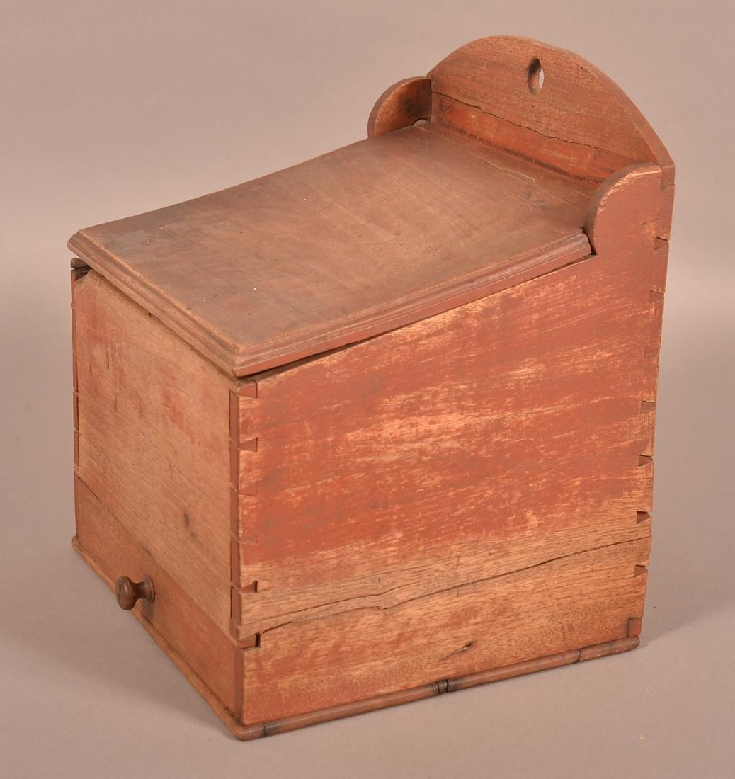 Pennsylvania 19th Century Walnut Hanging Salt Box. - 2