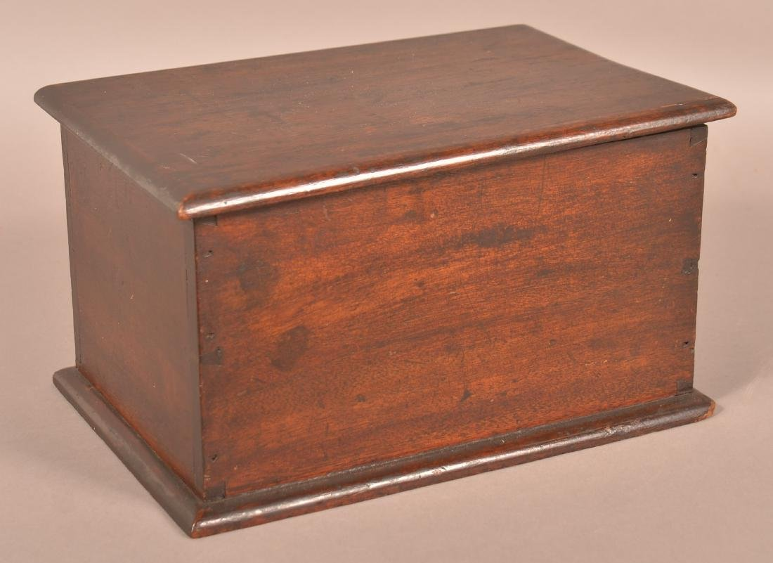 19th Century Walnut Dovetailed Document Box.
