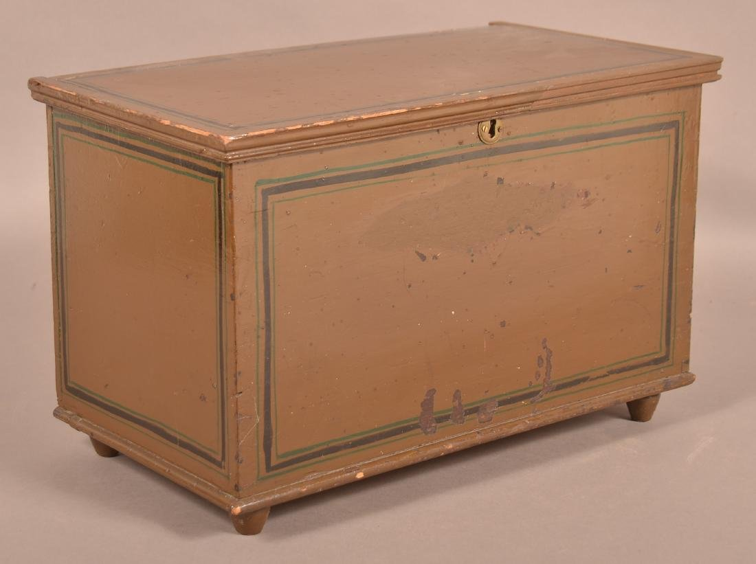 PA 19th Century Softwood Miniature Blanket Chest.