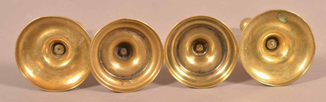 Two Pairs of 19th Century Brass Candlesticks. - 2