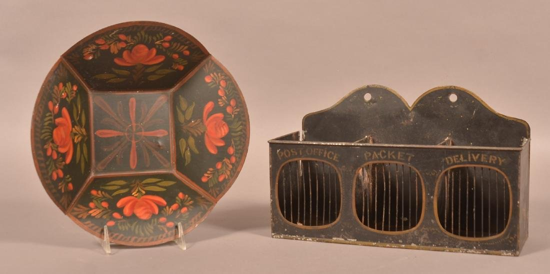 Two Pieces of Vintage Tinware.
