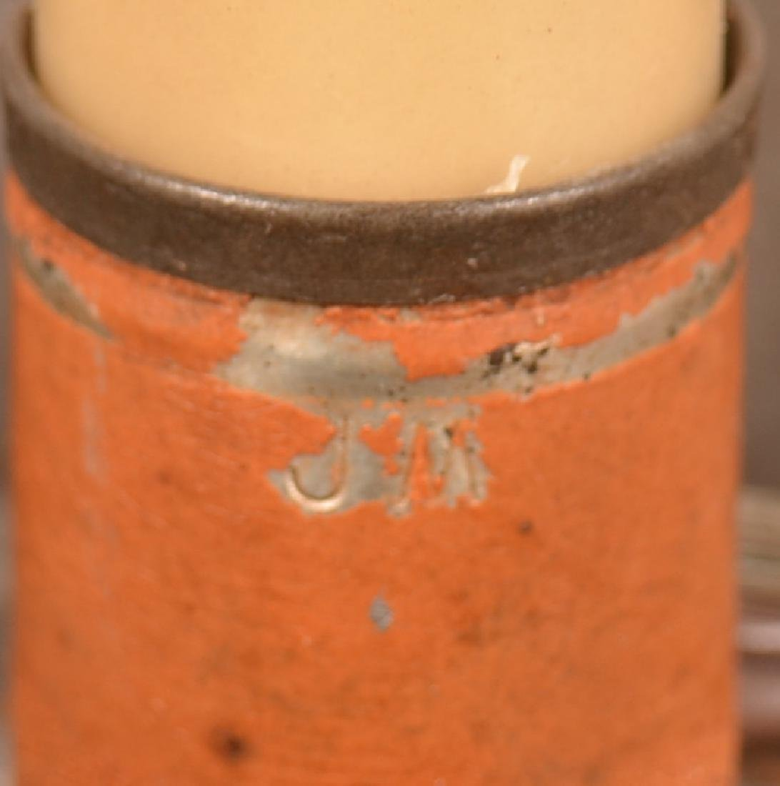 Jerry Martin Apricot Orange Painted Tin Student Lamp. - 2