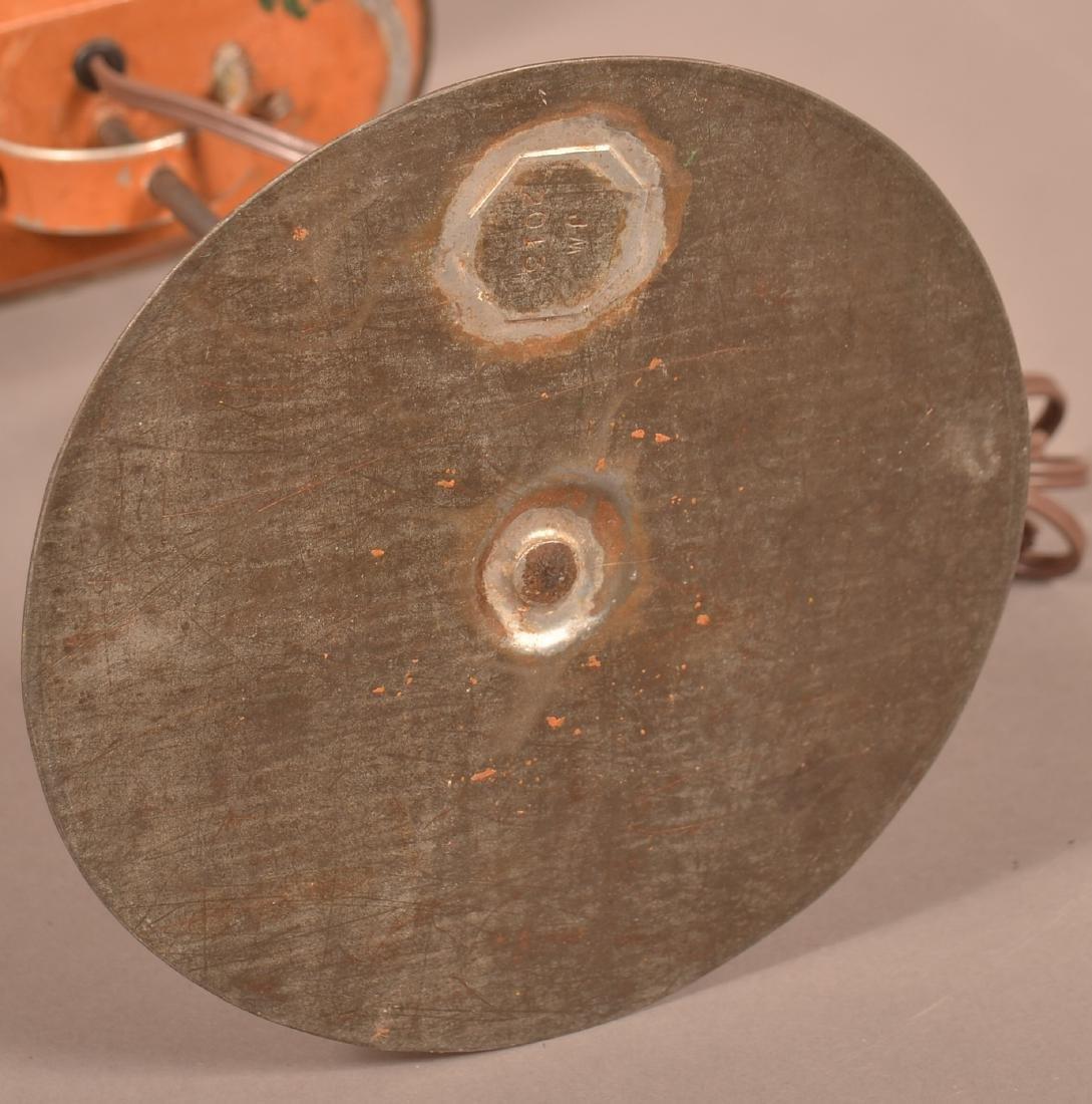 Jerry Martin Apricot Orange Painted Tin Student Lamp. - 4