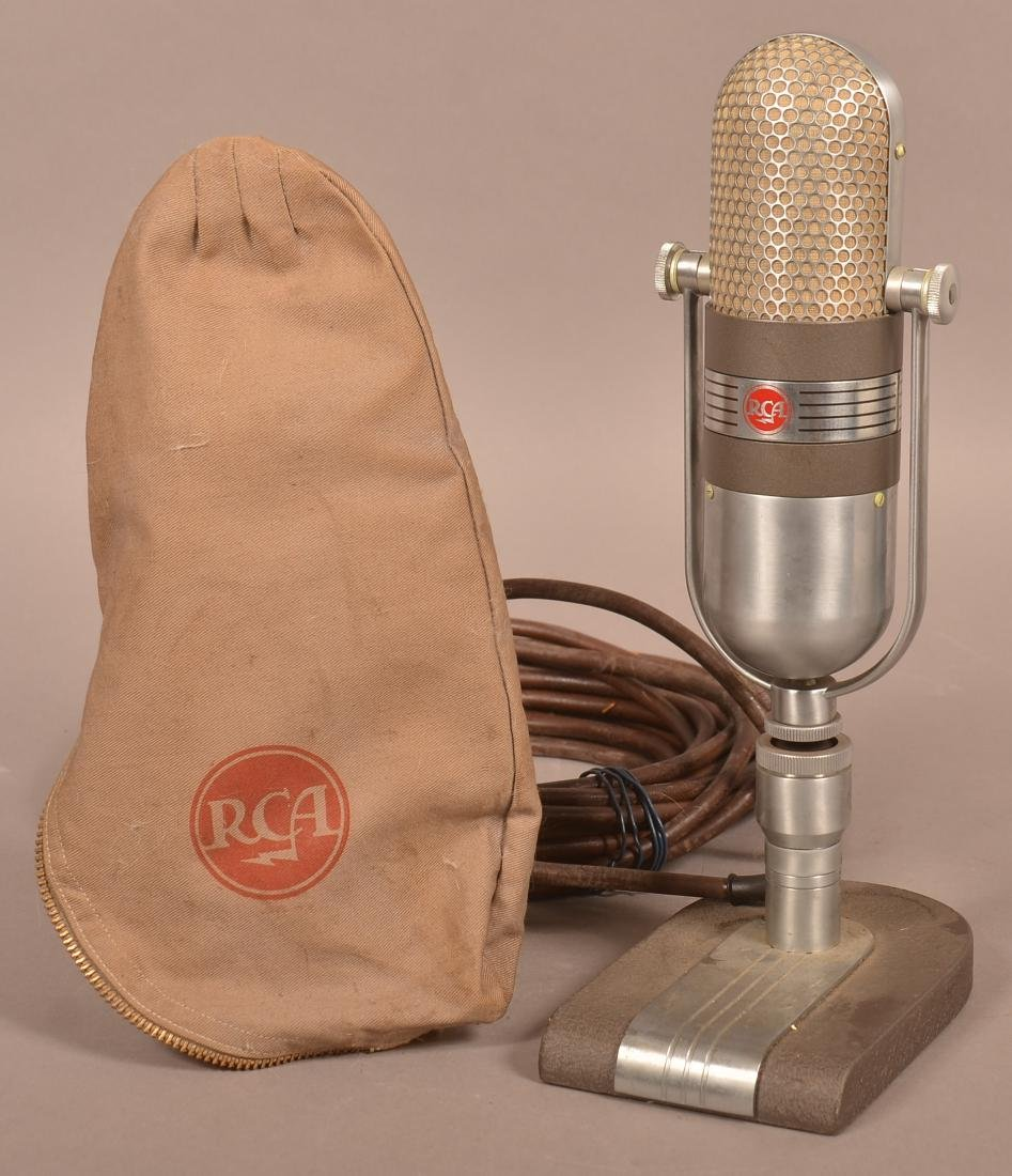 Art Deco RCA Broadcast Microphone Type 77-DX.