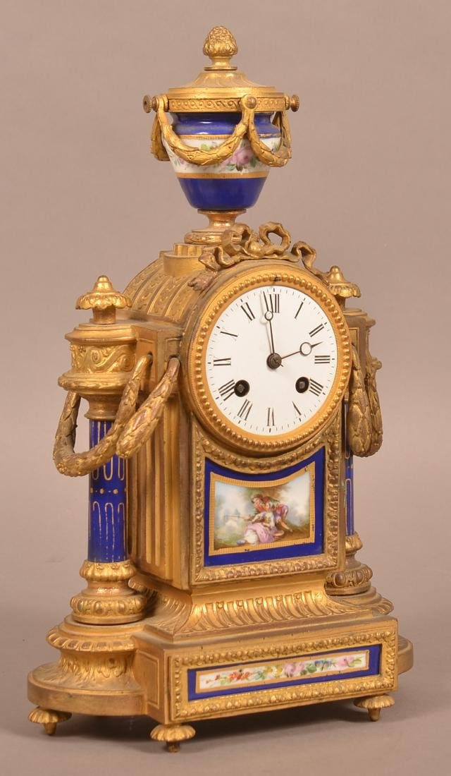 Louis XV-Style Japy Freres French Mantel Clock.