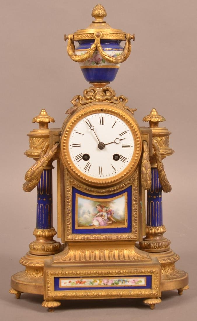 Louis XV-Style Japy Freres French Mantel Clock. - 2