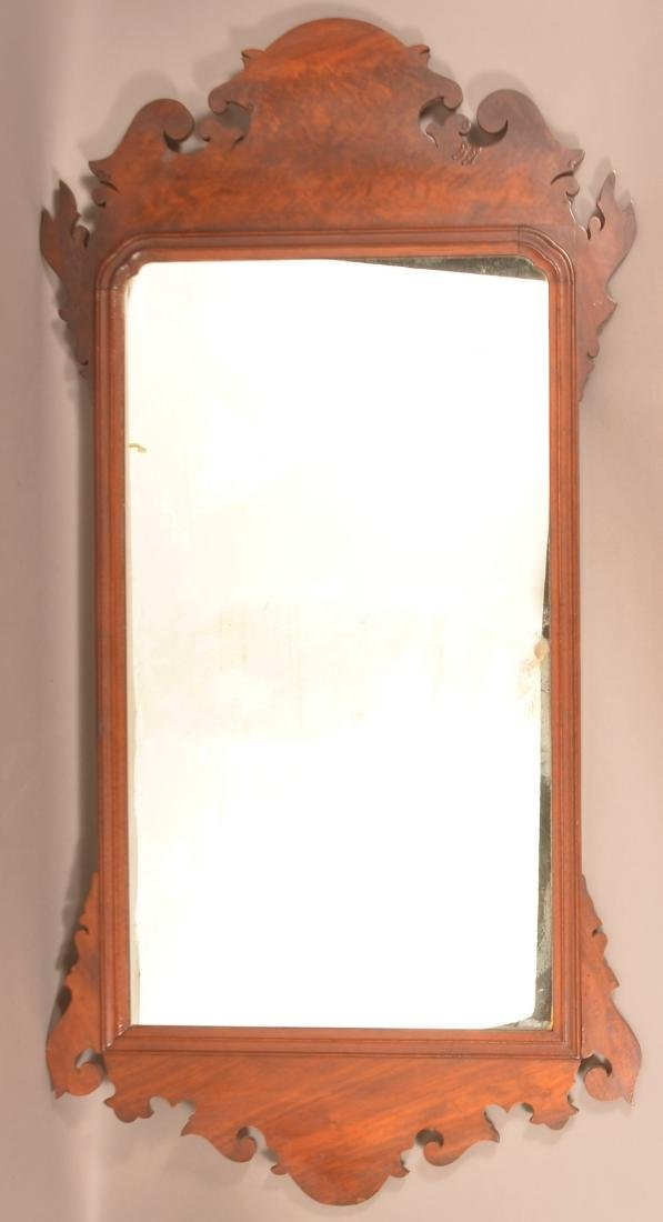 Chippendale Mahogany Mirror.