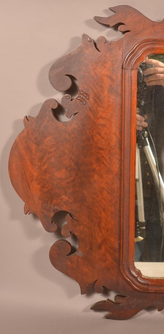 Chippendale Mahogany Mirror. - 2