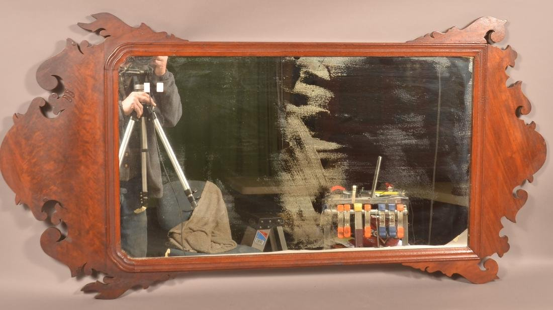 Chippendale Mahogany Mirror. - 3