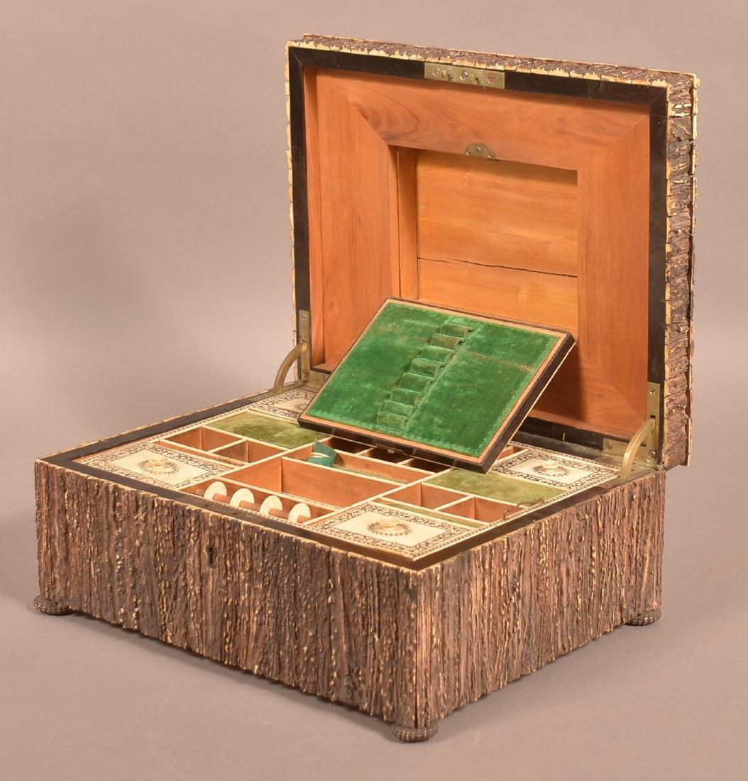 Mid 19th Century Antler Veneered Sewing Box. - 2