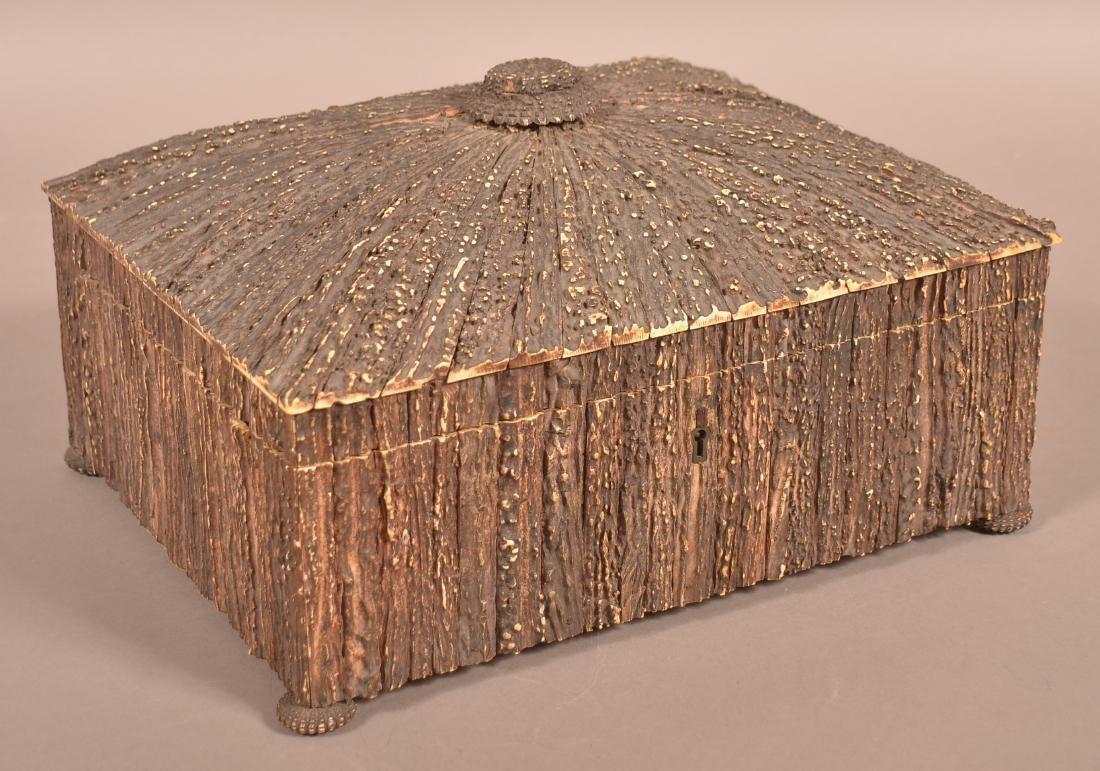 Mid 19th Century Antler Veneered Sewing Box. - 3