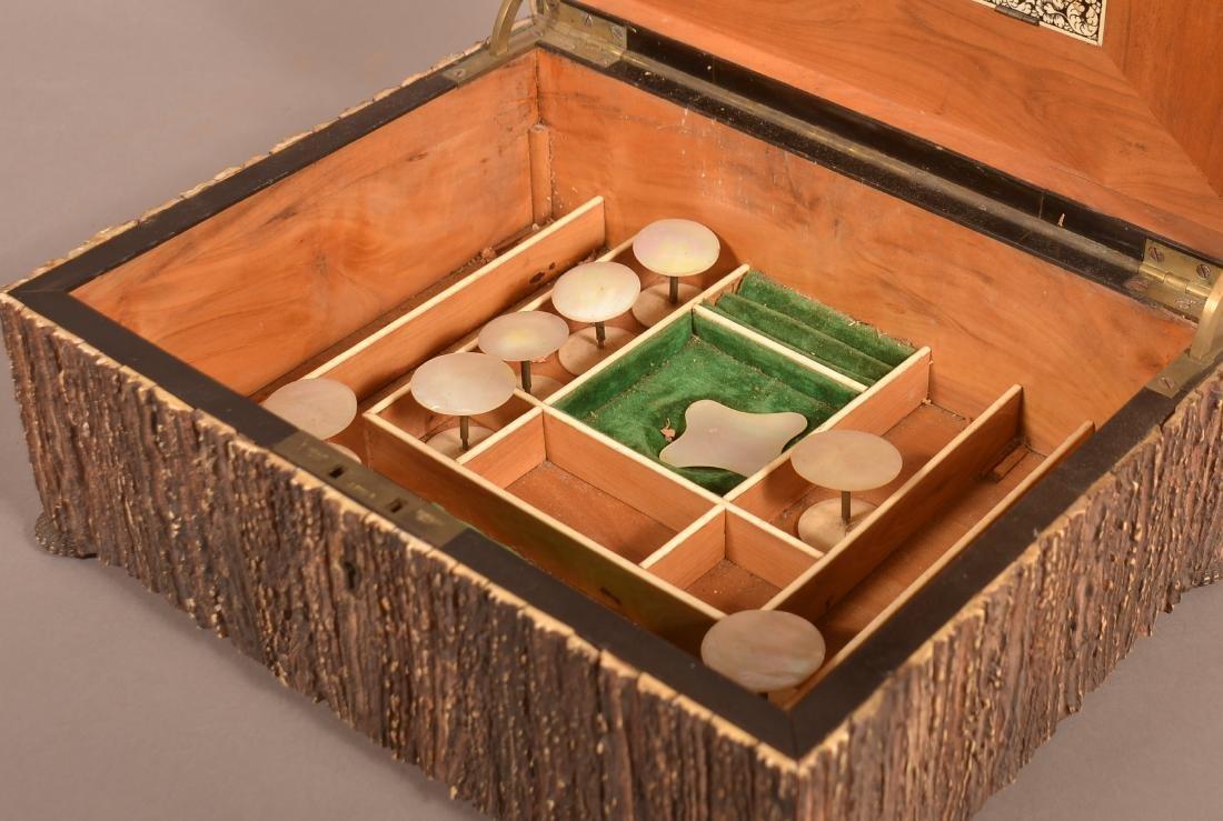 Mid 19th Century Antler Veneered Sewing Box. - 4