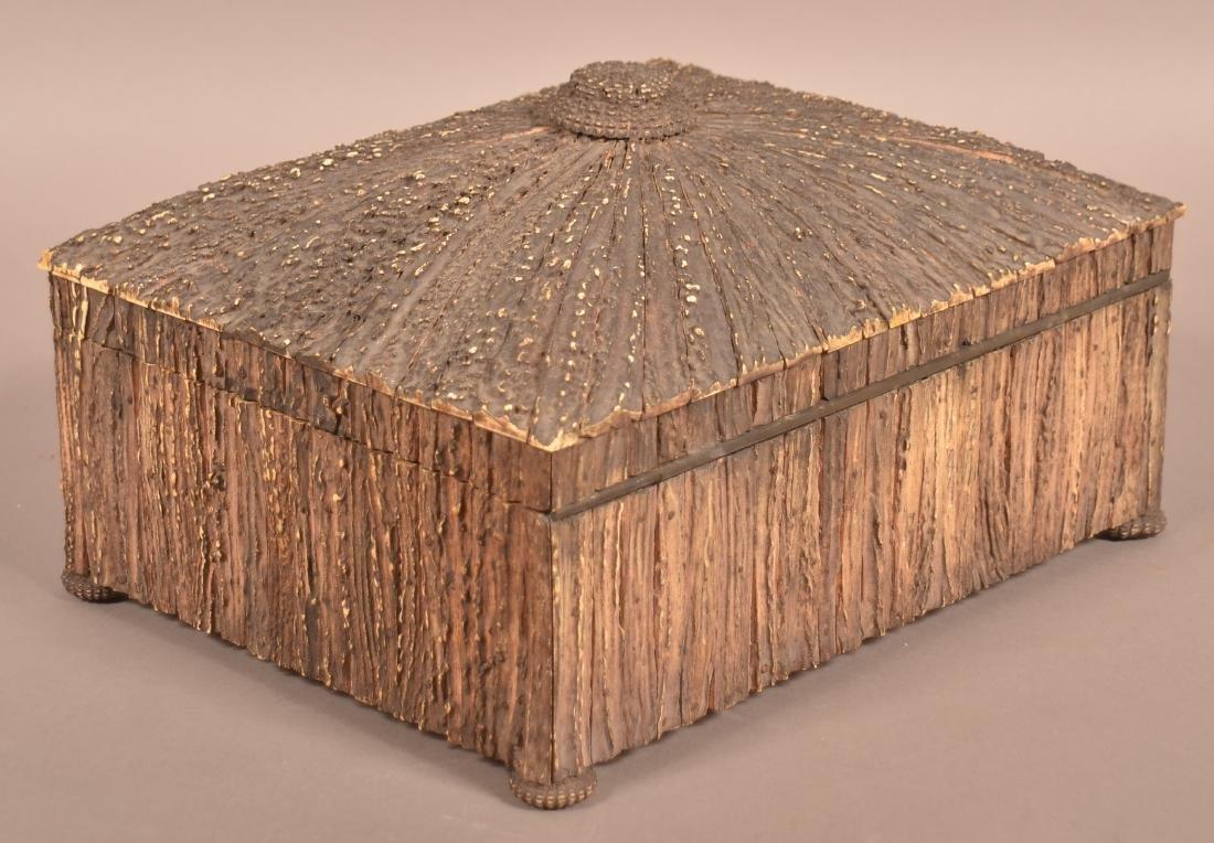Mid 19th Century Antler Veneered Sewing Box. - 5
