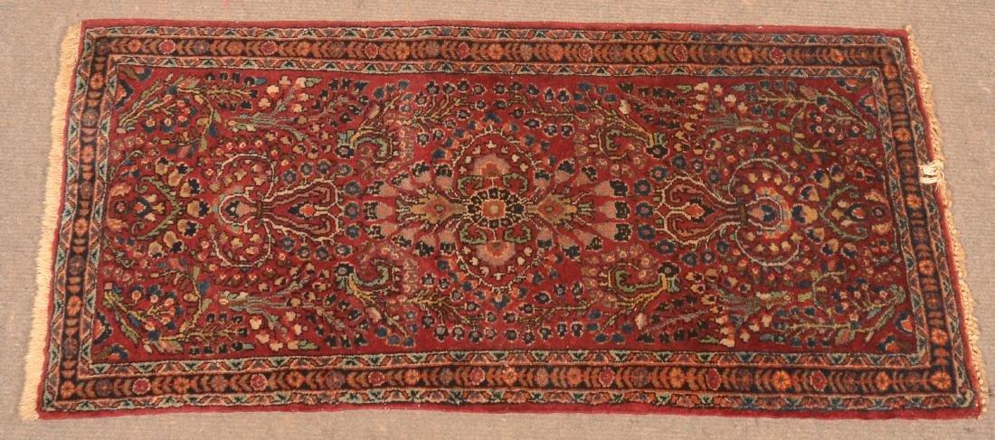 Antique Floral Pattern Oriental Area Rug.