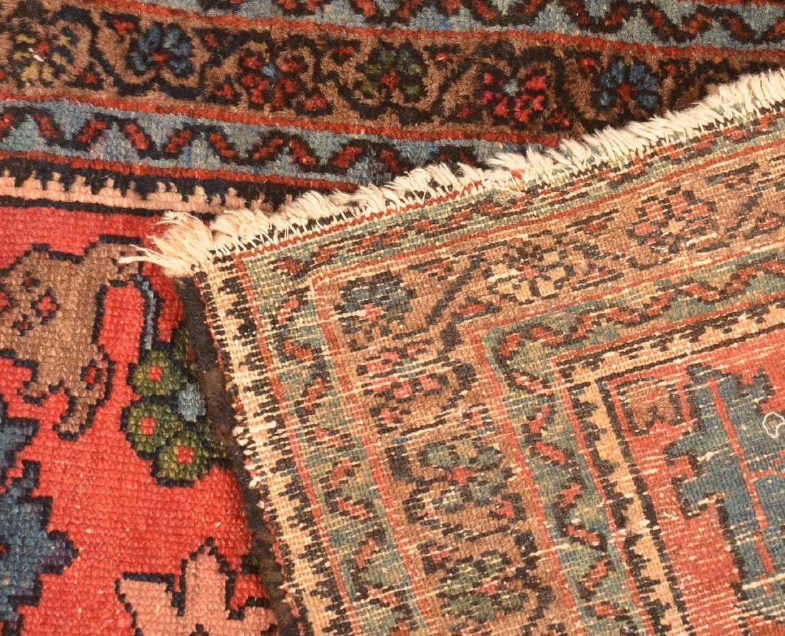 Antique Floral Pattern Oriental Area Rug. - 4