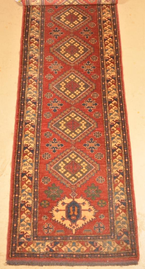 Antique Geometric Pattern Oriental Runner. - 2