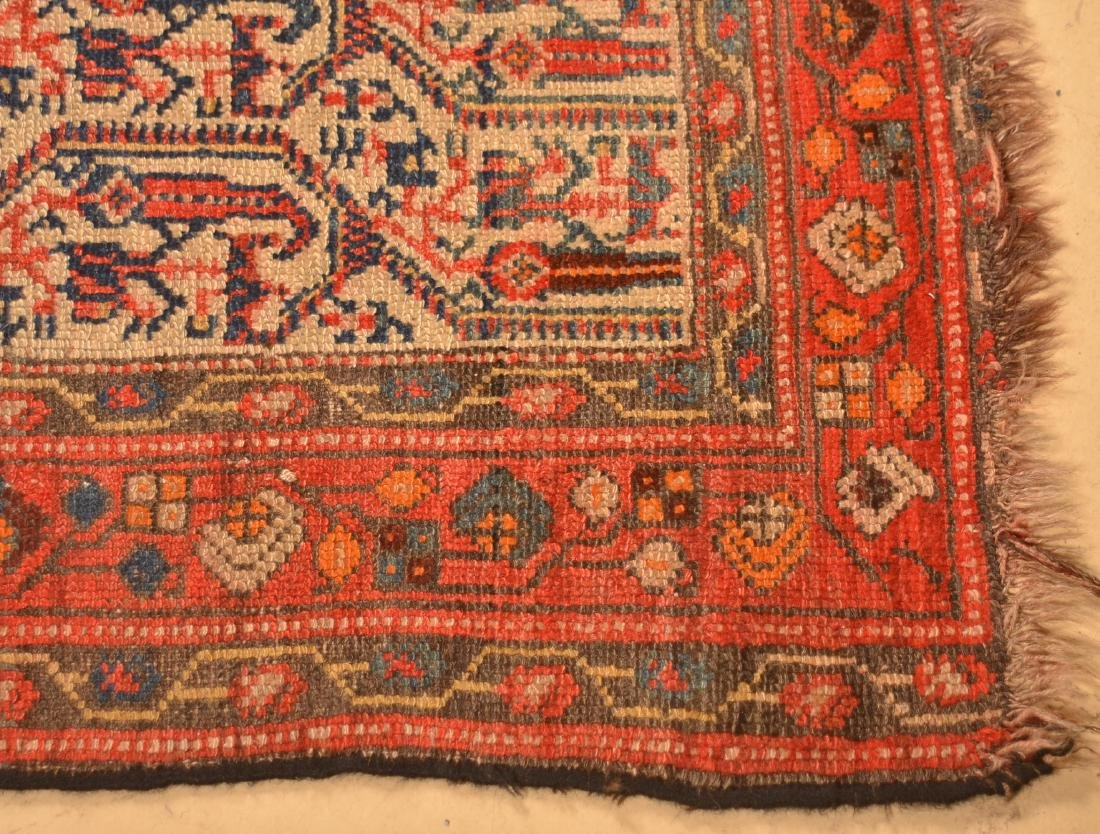 Antique Floral Pattern Oriental Area Rug. - 5
