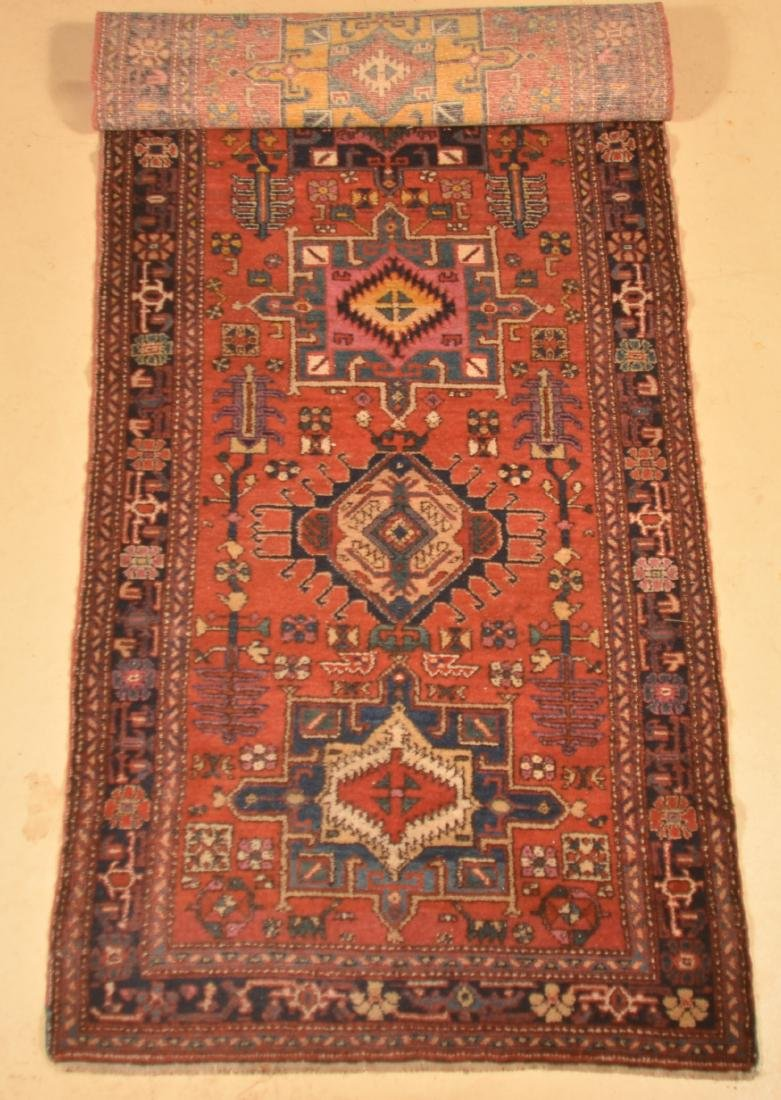 Antique Geometric Pattern Oriental Runner. - 2
