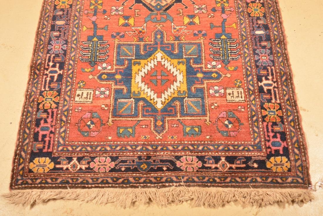 Antique Geometric Pattern Oriental Runner. - 3