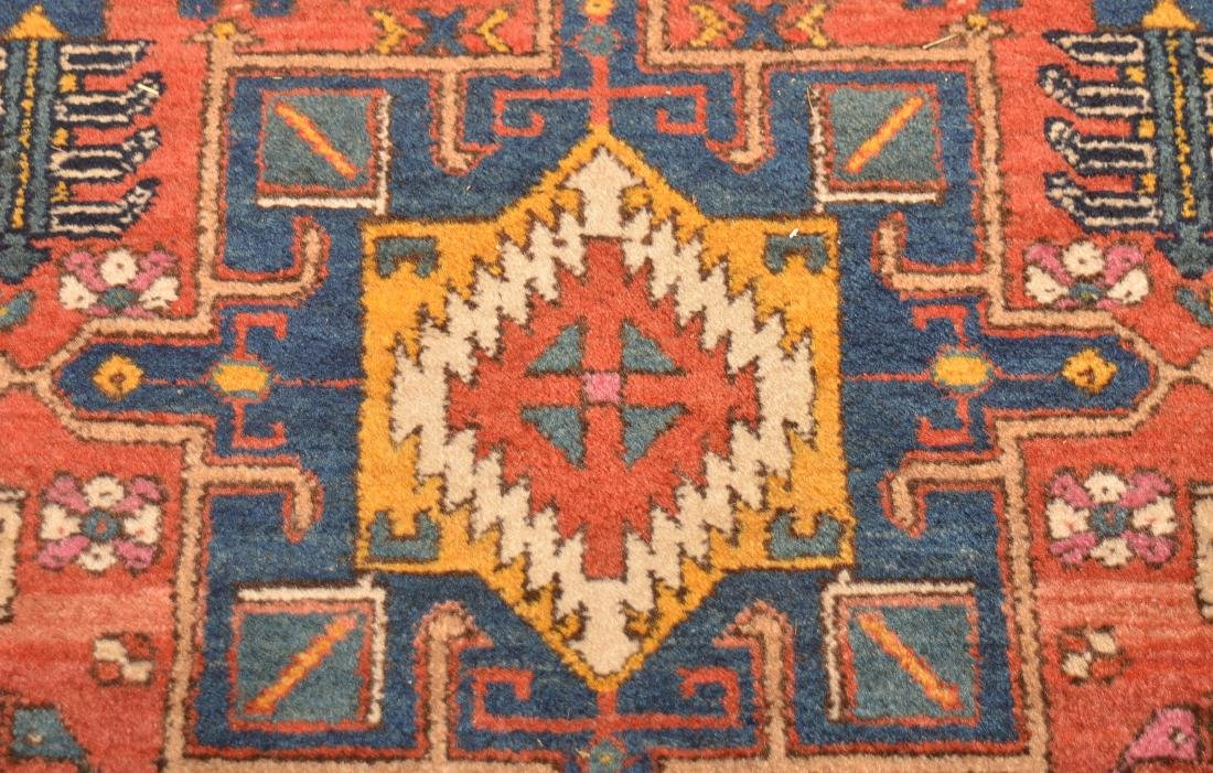 Antique Geometric Pattern Oriental Runner. - 6
