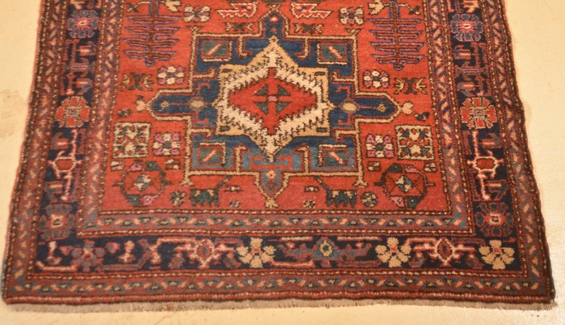 Antique Geometric Pattern Oriental Runner. - 7