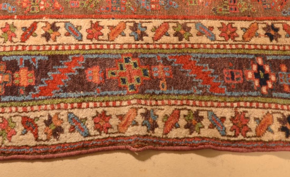 Vintage Geometric/Floral Pattern Oriental Area Rug. - 4