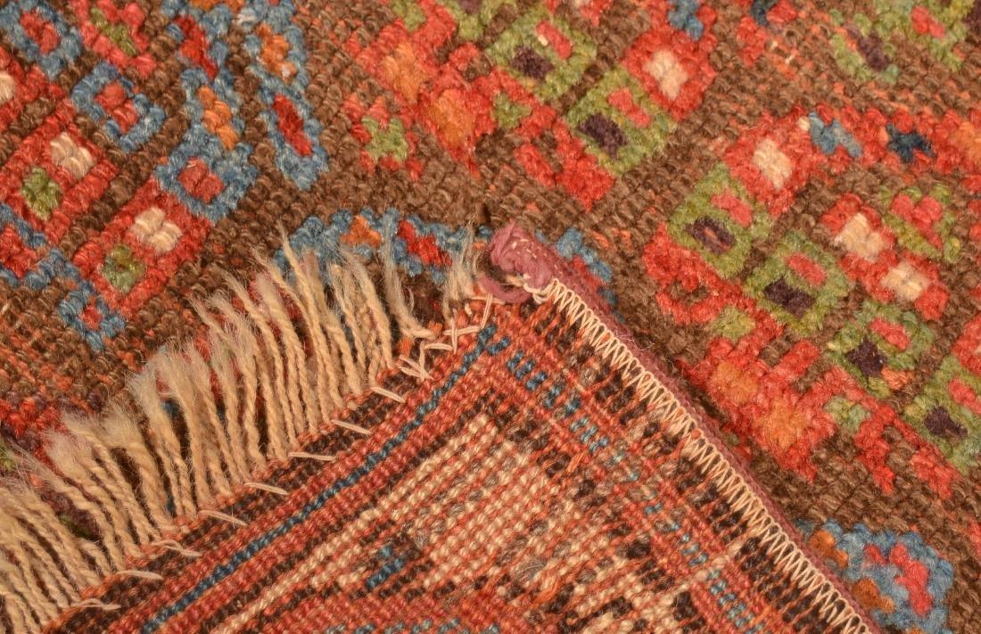 Vintage Geometric/Floral Pattern Oriental Area Rug. - 5