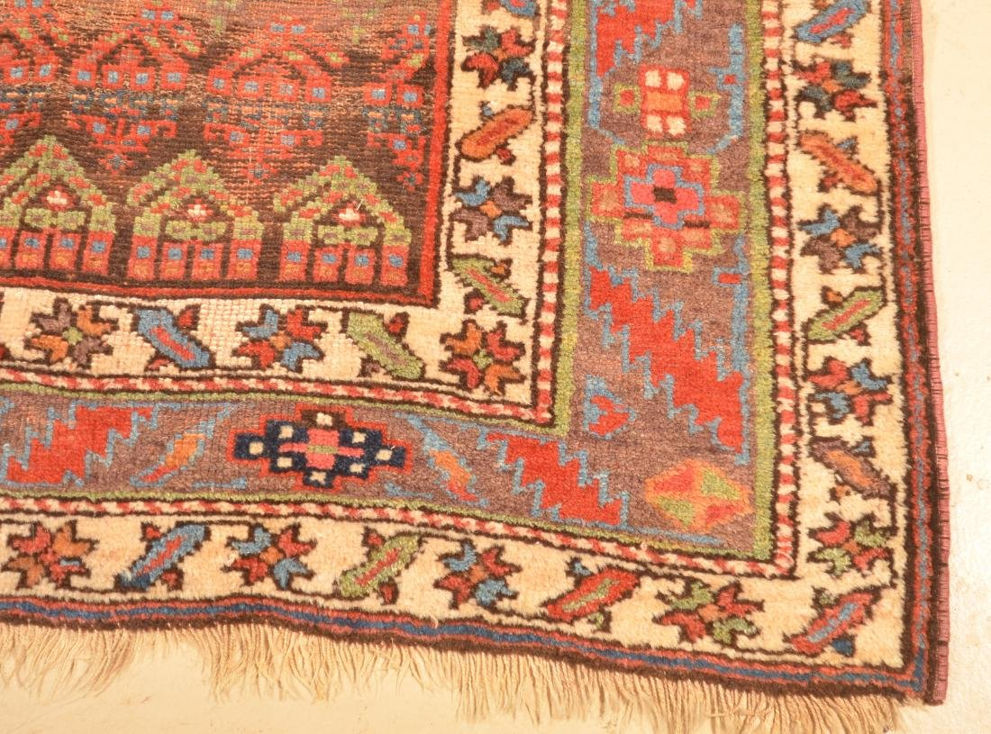 Vintage Geometric/Floral Pattern Oriental Area Rug. - 6