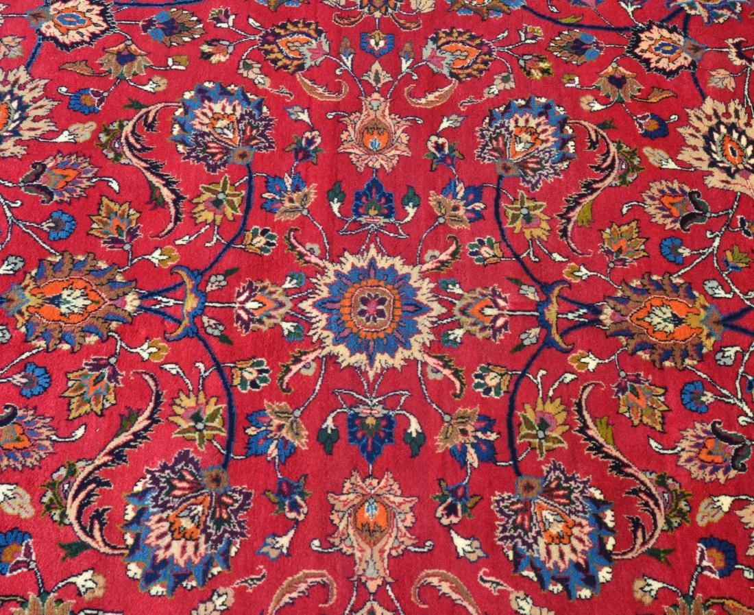 Vintage Floral Pattern Oriental Square Room Size Rug. - 2