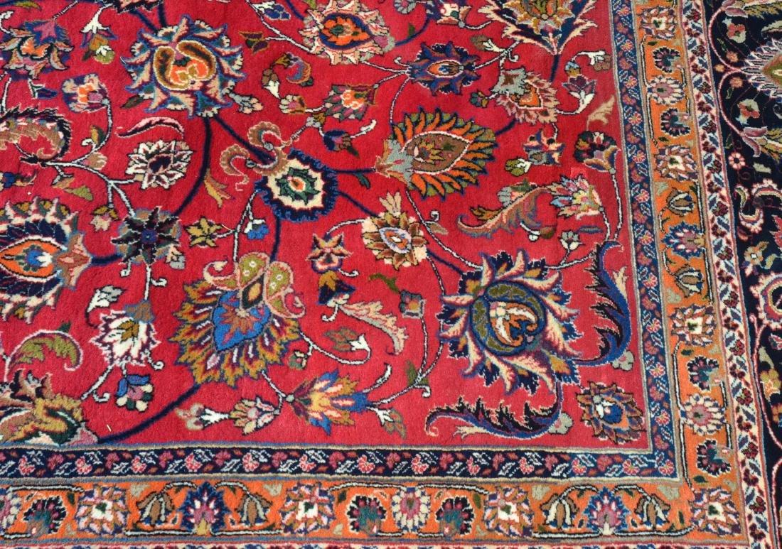 Vintage Floral Pattern Oriental Square Room Size Rug. - 4