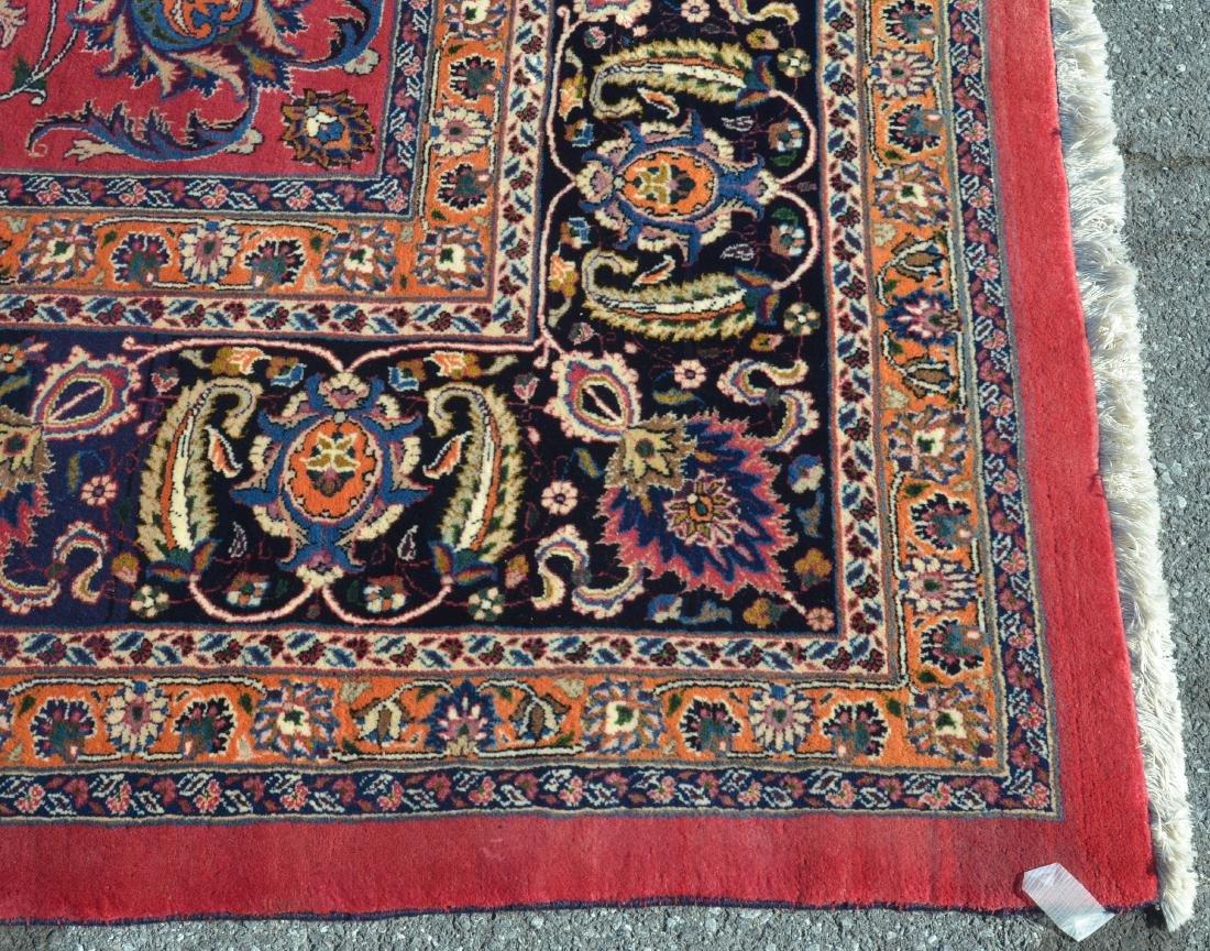 Vintage Floral Pattern Oriental Square Room Size Rug. - 5