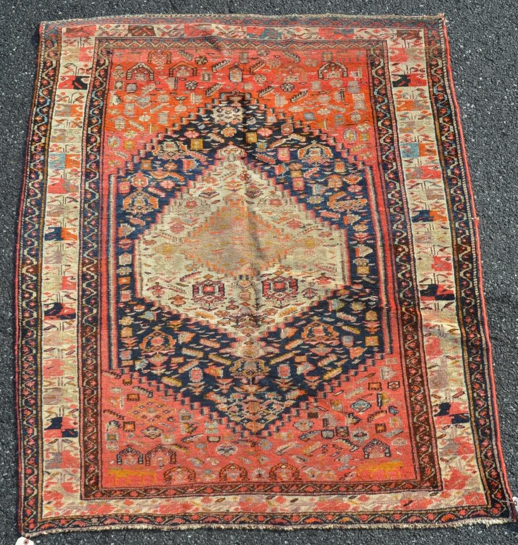 Antique Northwest Persian Center Medallion Area Rug.