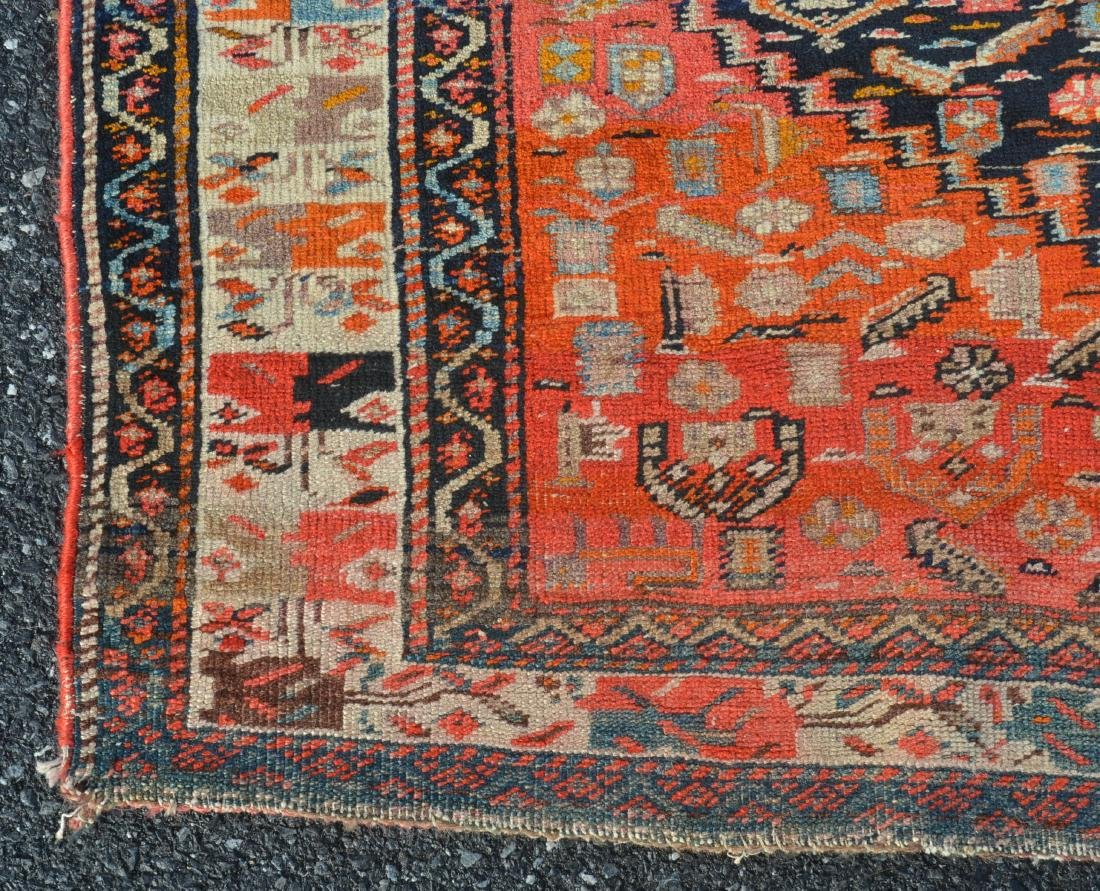Antique Northwest Persian Center Medallion Area Rug. - 4