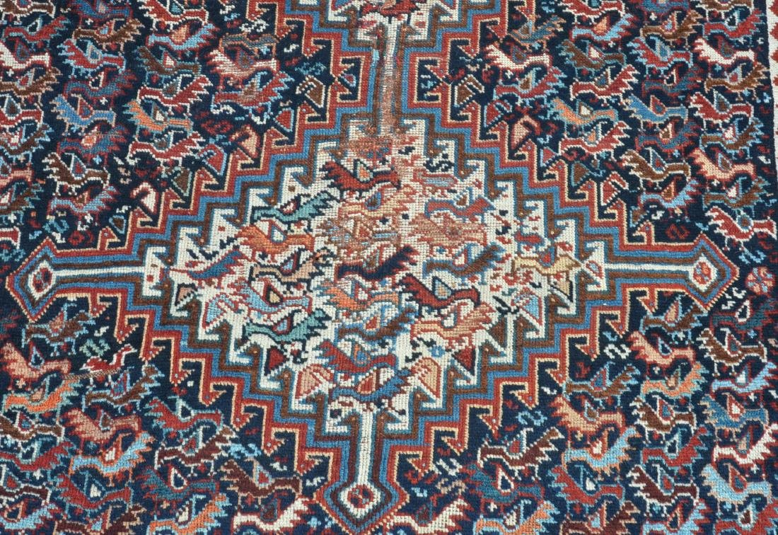 Antique Geometric/Floral Pattern Oriental Area Rug. - 2