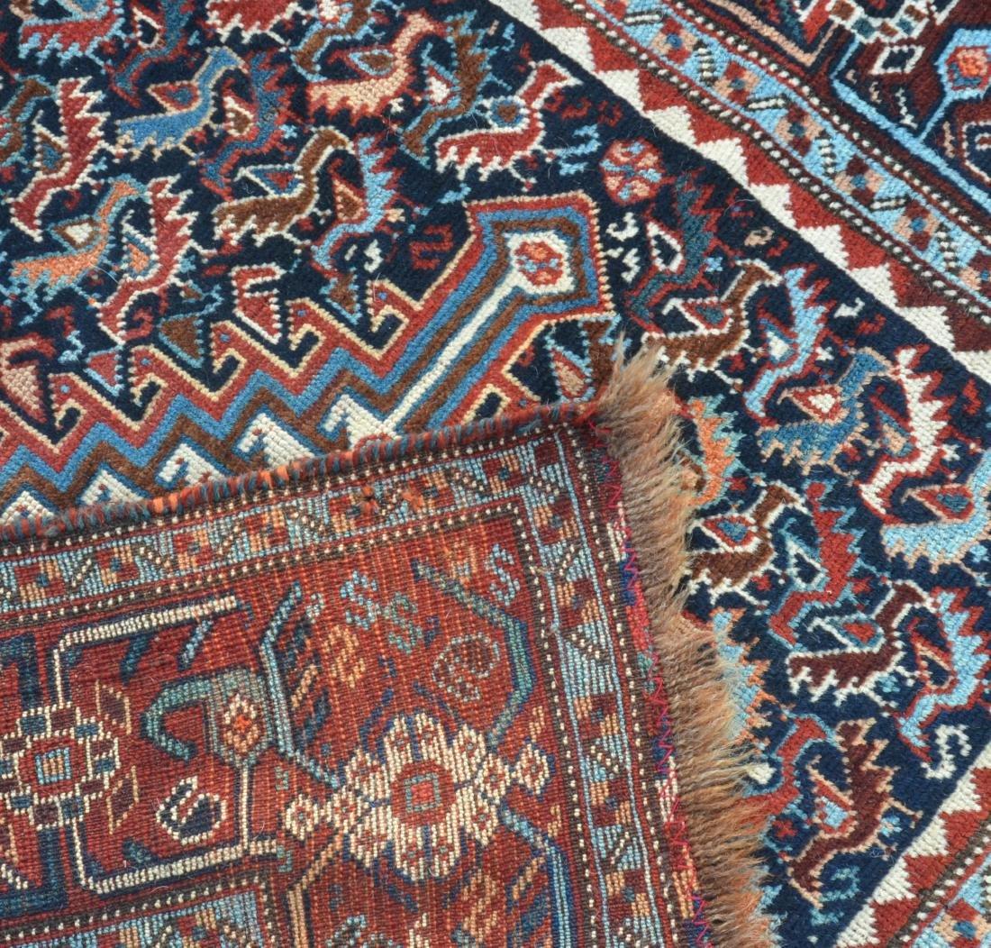 Antique Geometric/Floral Pattern Oriental Area Rug. - 4