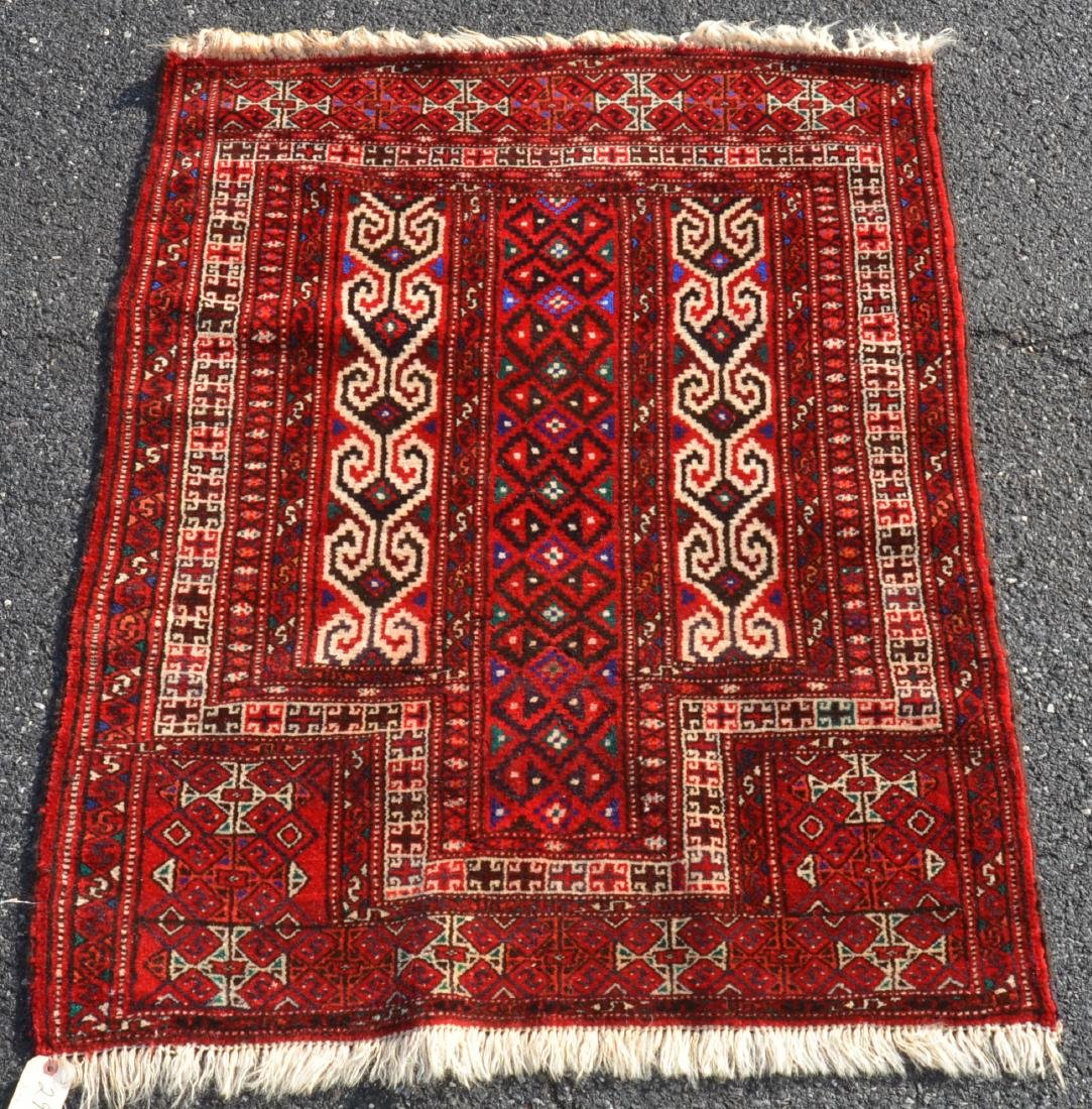 Modern Geometric Pattern Oriental Prayer Rug.