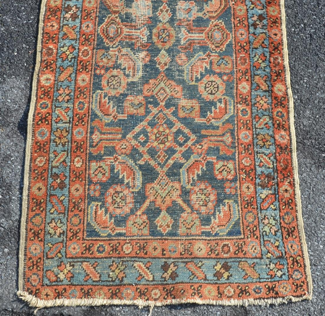 Antique Geometric/Floral Pattern Oriental Area Runner. - 2