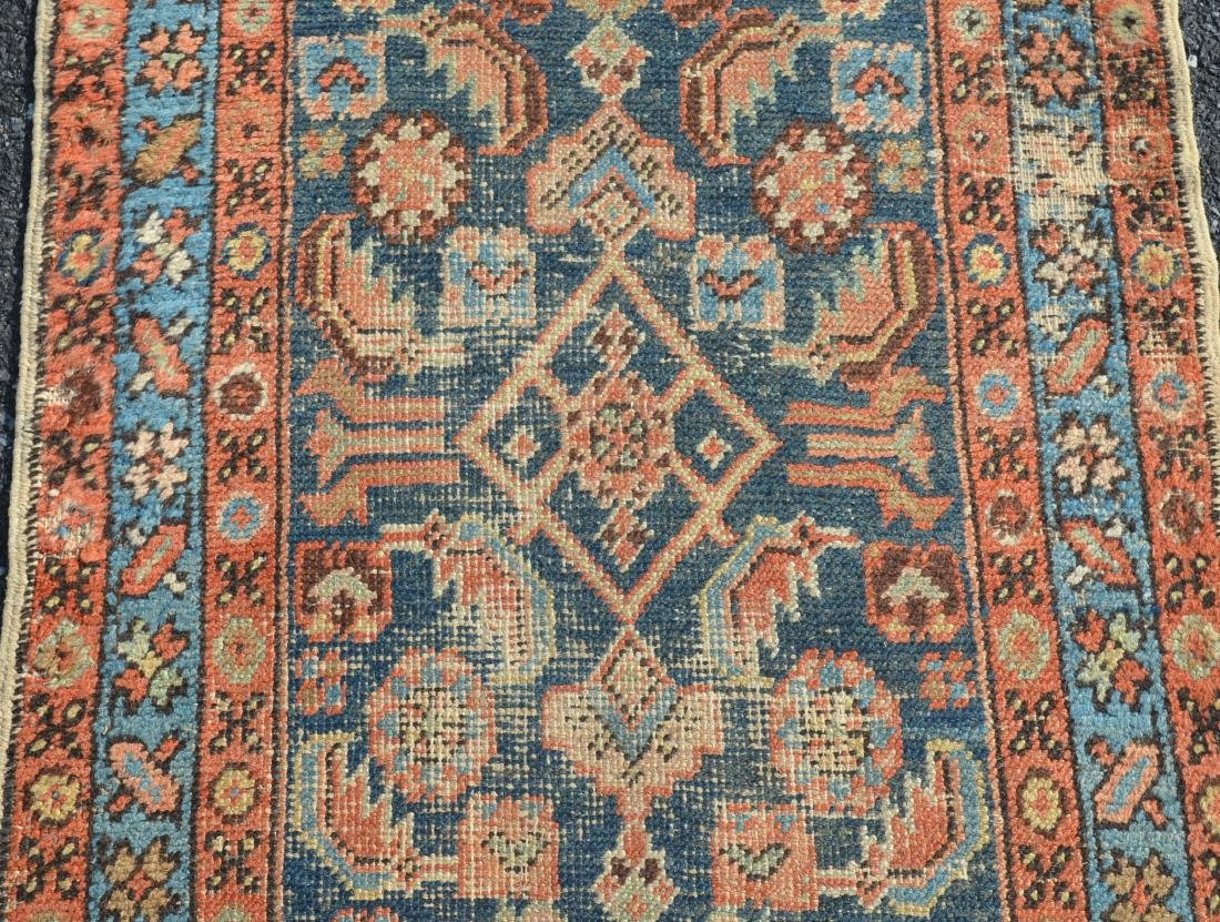 Antique Geometric/Floral Pattern Oriental Area Runner. - 3