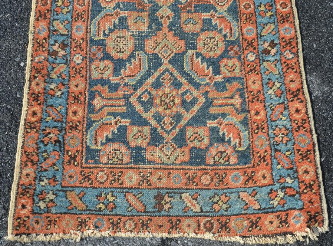 Antique Geometric/Floral Pattern Oriental Area Runner. - 4