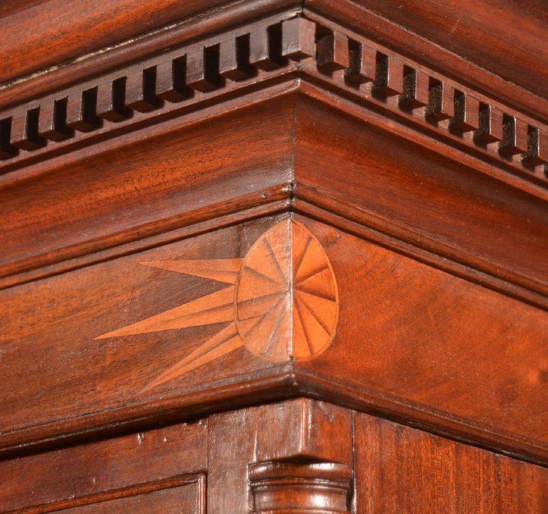 Chippendale Mahogany Inlaid Chest on Chest. - 3