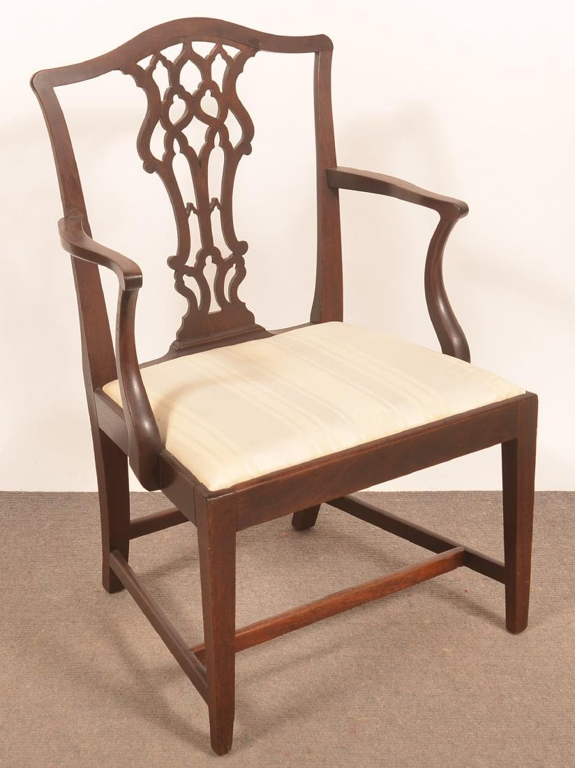 Chippendale/Federal Transitional Mahogany Armchair.