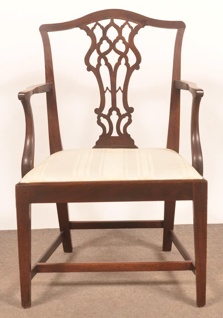 Chippendale/Federal Transitional Mahogany Armchair. - 2