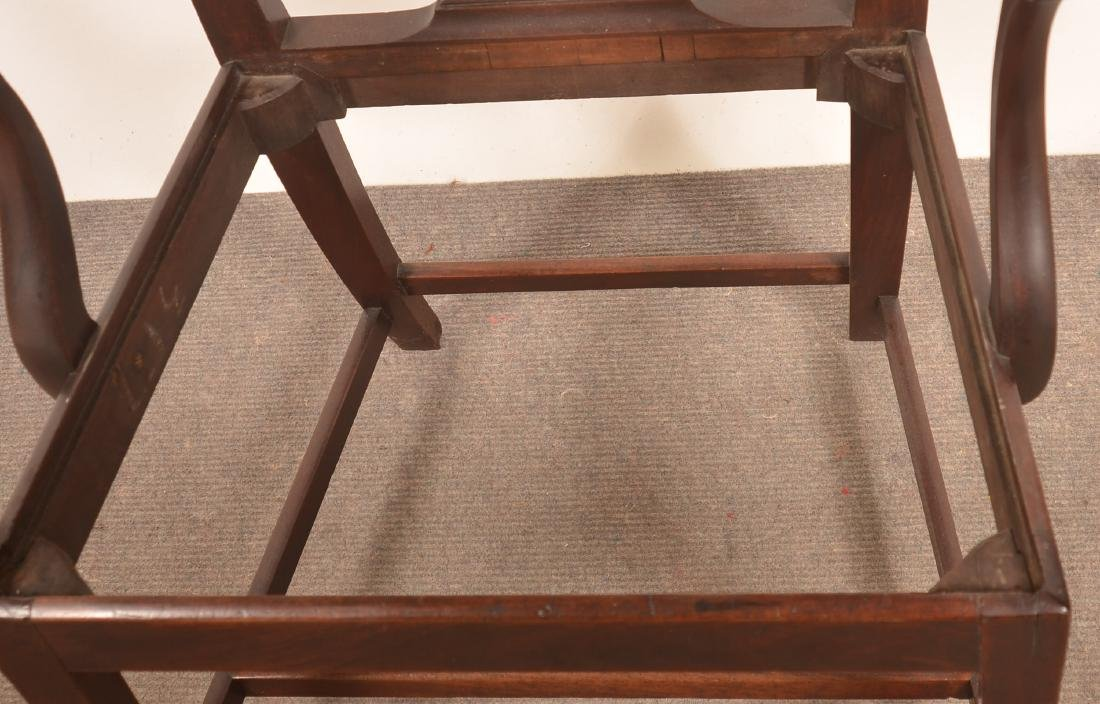 Chippendale/Federal Transitional Mahogany Armchair. - 4