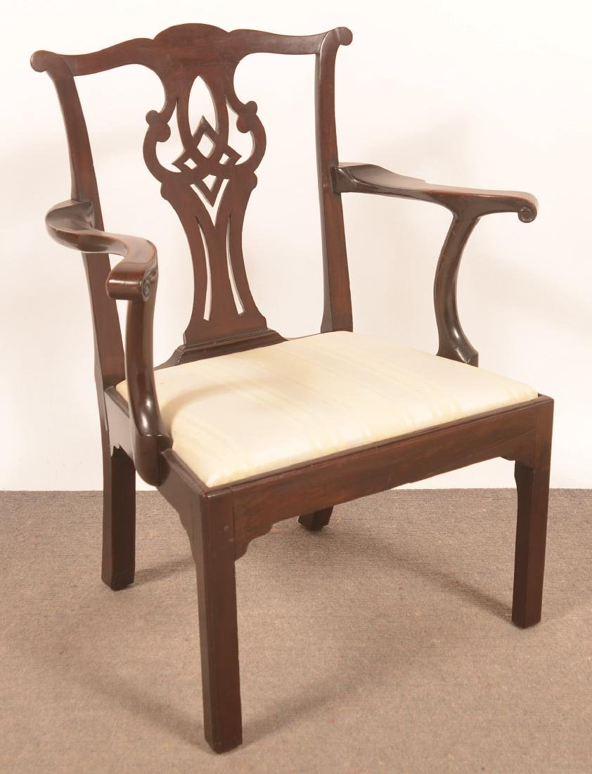 Chippendale Mahogany Armchair.