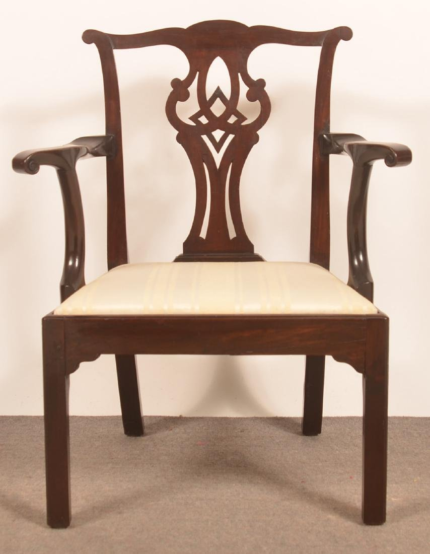 Chippendale Mahogany Armchair. - 2