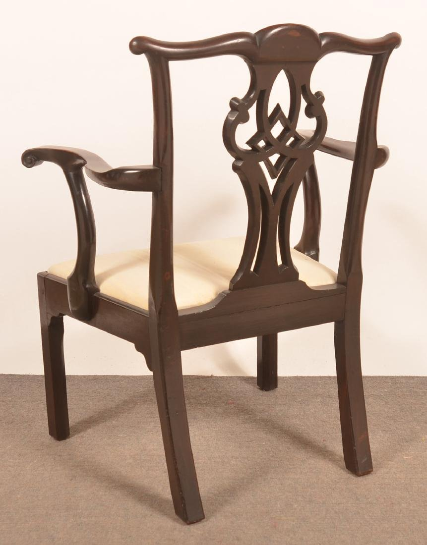 Chippendale Mahogany Armchair. - 3