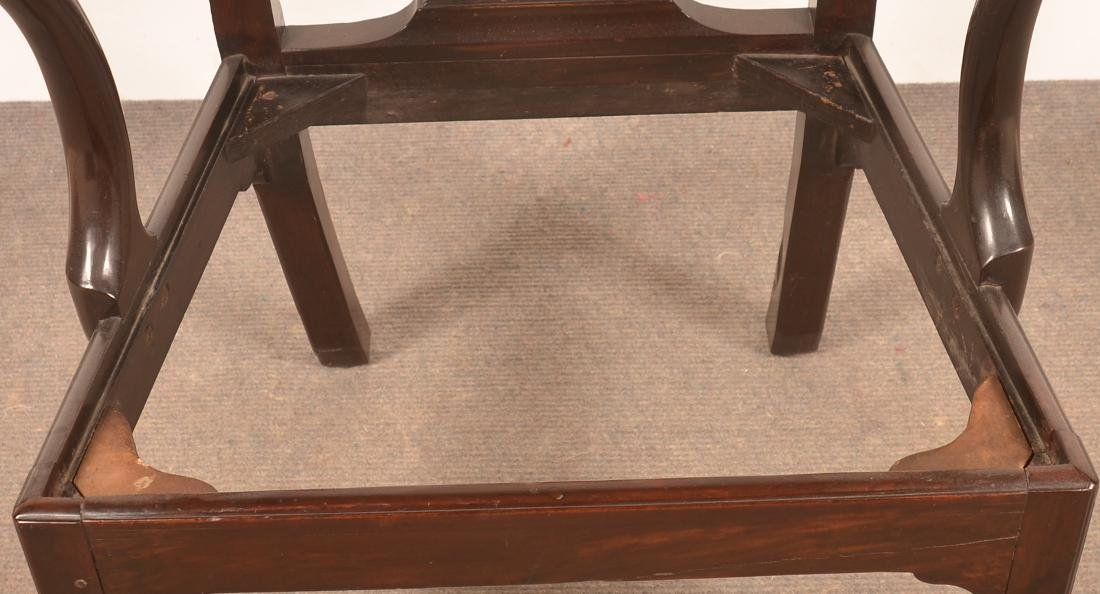 Chippendale Mahogany Armchair. - 4