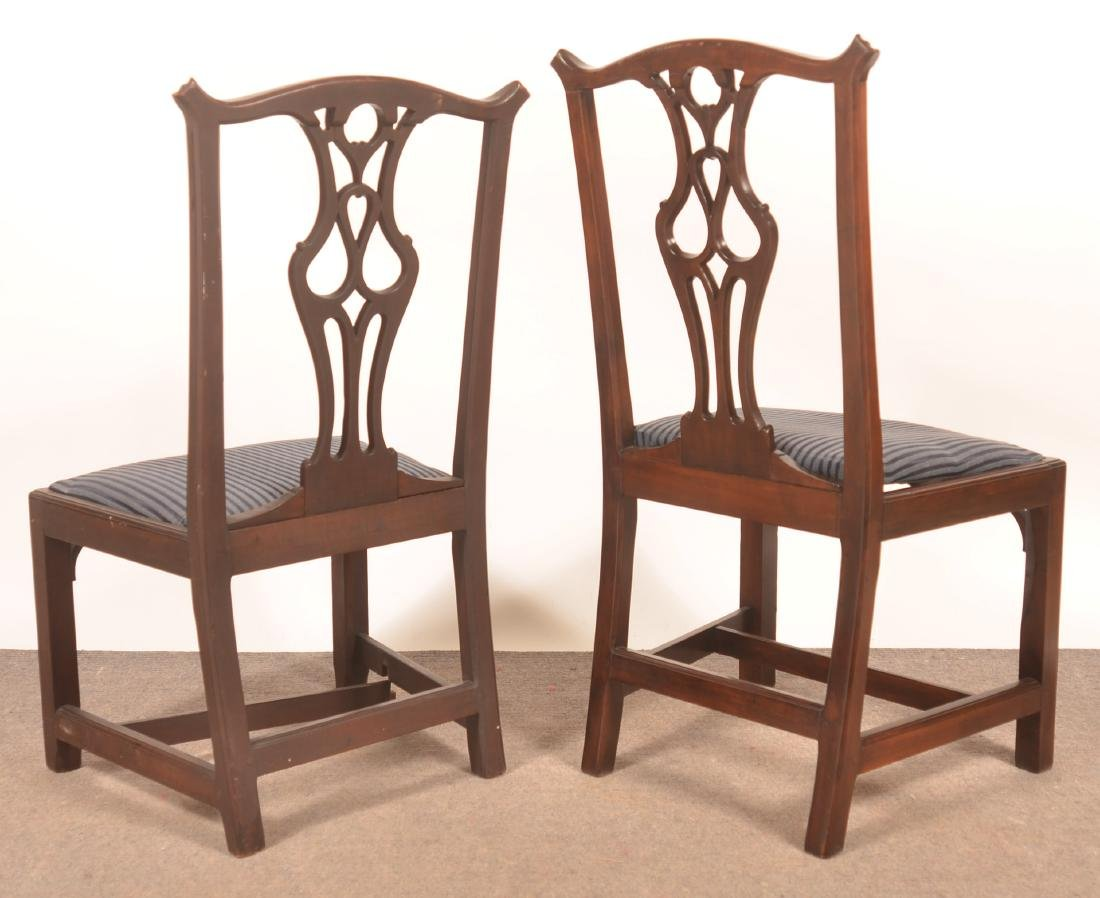 Pair of Chippendale Mahogany Sidechairs. - 2