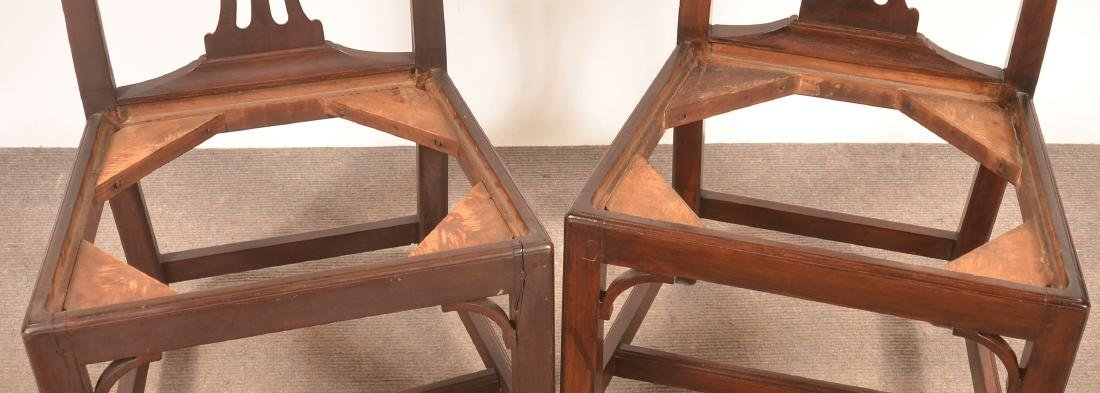 Pair of Chippendale Mahogany Sidechairs. - 3